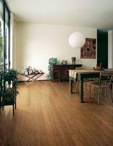 Solid Horizontal-Grain Bamboo Flooring, Amber