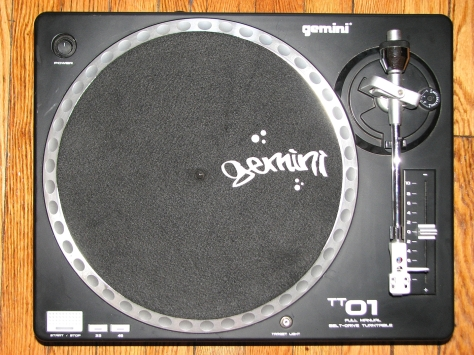 Gemini TT-01 MKII Belt Drive Turntable